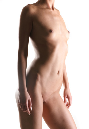 Sexy body of young fit lady Stock Photo