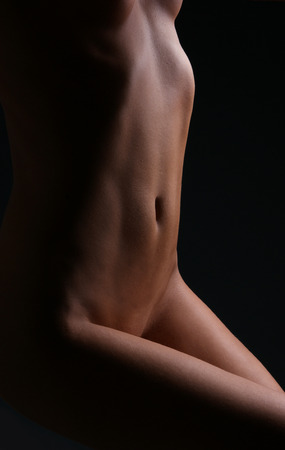 nude women: Beautiful nude body of young and sexy woman Stock Photo