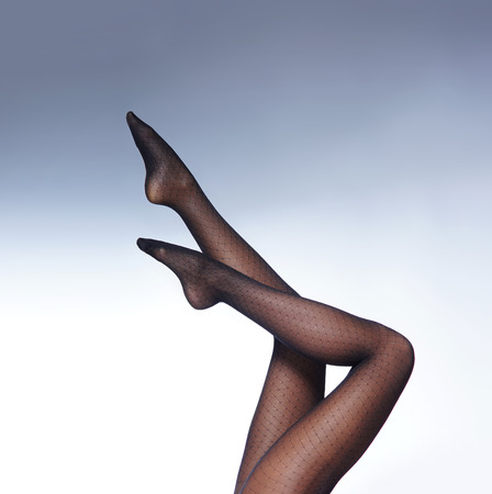 photo of the beautiful legs in nice stockings