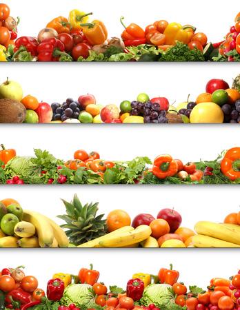 comiendo platano: 5 texturas nutrici�n (frutas y verduras aislados en blanco)