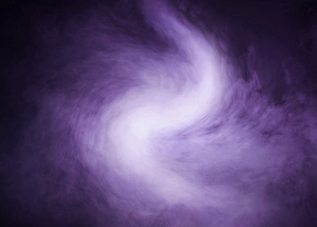 Abstract texture of the purple smoke over black background Stock Photo