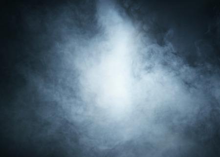 Smoke over black background Banque d'images