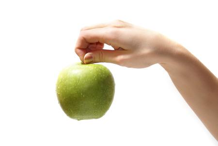 graceful: Tasty sweet apple in graceful womans hand