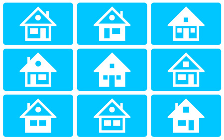 hypothec: Collection of the different house illustration (not vector) Stock Photo