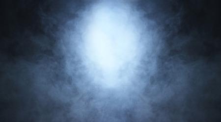Smoke over black background Stockfoto