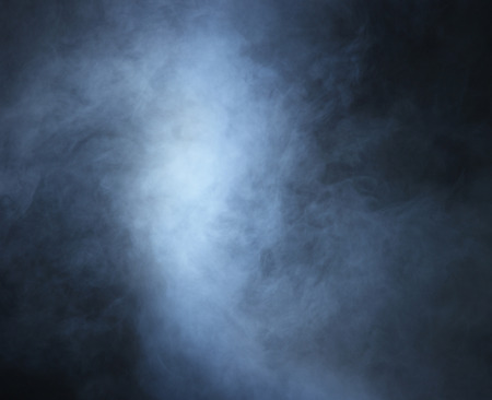 gothic: Smoke over black background Stock Photo