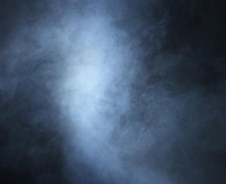 Smoke over black background Archivio Fotografico
