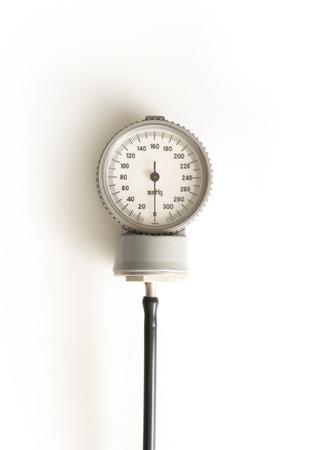 sphygmomanometer: sphygmomanometer isolated on white