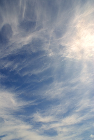 terrific: Terrific view of sky full of clouds and sun light Stock Photo
