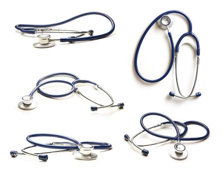 Stethoscoop geïsoleerd op wit Stockfoto - 44634830
