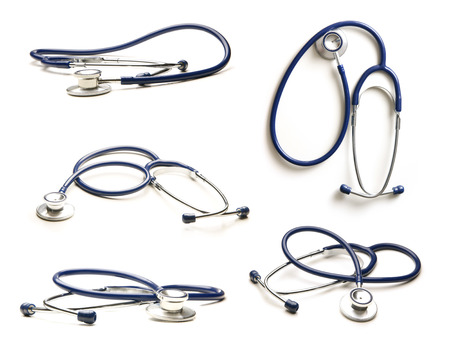 stethoscope: Stethoscope isolated on white