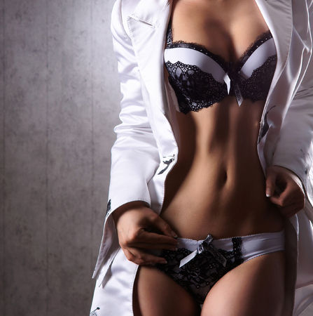 sexy boobs: Body of sexy woman in nice lingerie