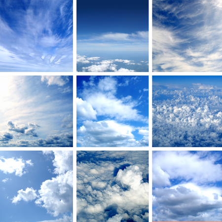 terrific: This picture is made of nine different types of clouds. Very good as illustration.