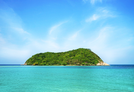 scenic landscape: Scenic landscape of a tropical beach. Summer background.