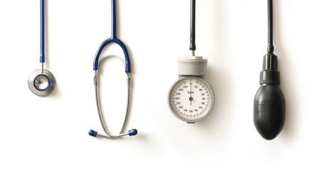 Stethoscope isolé sur blanc