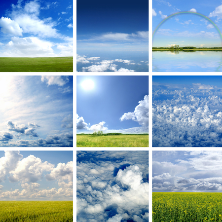 very good: This picture is made of nine different types of clouds. Very good as illustration.