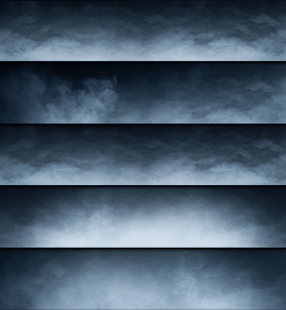 suspense: Smoke texture collection. Different shapes of a gas.