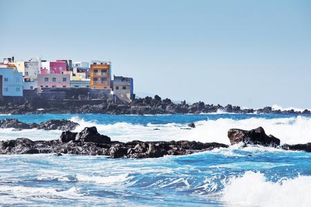 Puerto de la Cruz coast. Tenerife, Canary islands, Spain