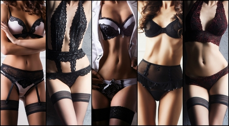 Gorgeous and beautiful women in sexy underwear. Young girls in lingerie. Fashion and vogue concept.