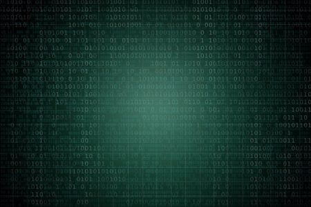 Abstract background with binary code. Hackers, darknet, virtual reality and science fiction concept.