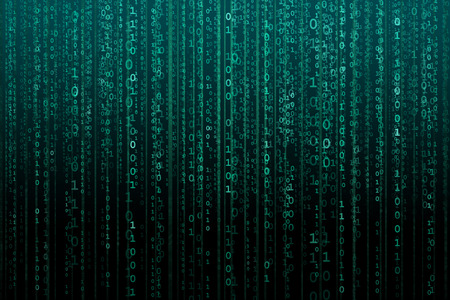 Abstract digital background with binary code. Hackers, darknet, virtual reality and science fiction concept.