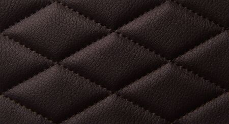 Macro leather pattern background. Synthetic leatherette surface. Copy space. Stock Photo - 124844128