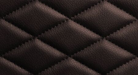 Macro leather pattern background. Synthetic leatherette surface. Copy space. Stock Photo - 124844131
