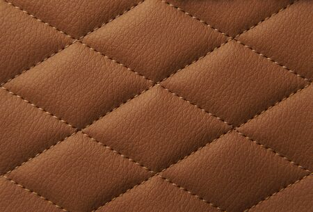 Macro leather pattern background. Synthetic leatherette surface. Copy space.