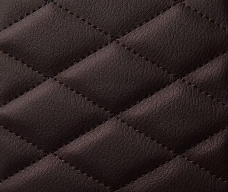 Macro leather pattern background. Synthetic leatherette surface.