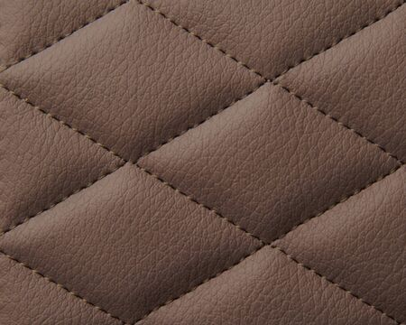 Macro leather pattern background. Synthetic leatherette surface. Stock Photo - 124957282