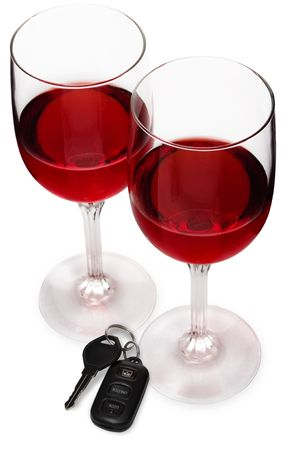 dwi: Wine Glasses w Car Keys