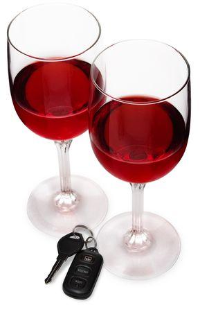 dwi: Wine Glasses w Car Keys