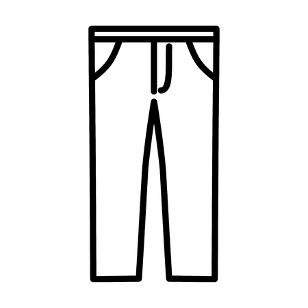 Trousers Fashion Vector Icon Illustration