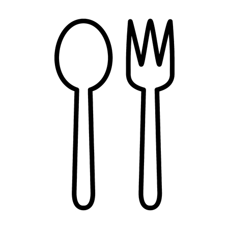 Spoon Fork Food Drink Vector Icon  イラスト・ベクター素材