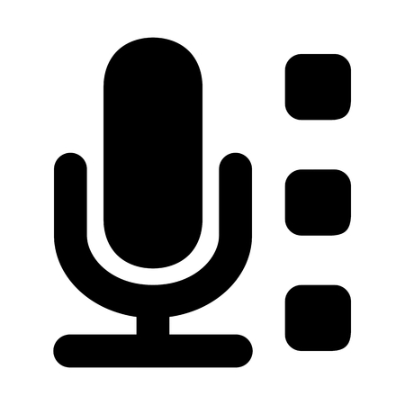 Mic 1 System Sound Vector Icon