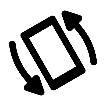 Phone Rotate System Vector Icon Ilustrace