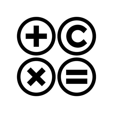 Calculator 3 Web Icon Vector Illustration