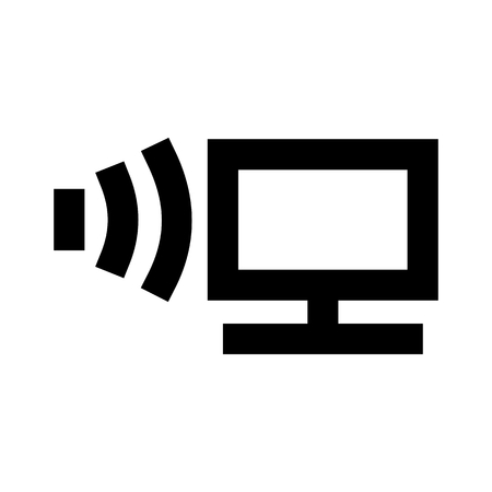Monitor System Icon Vector 일러스트