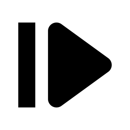 Skip 1 System Icon Vector