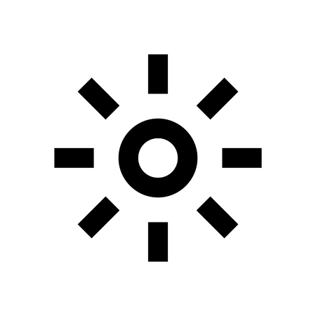 Sun System Icon Vector