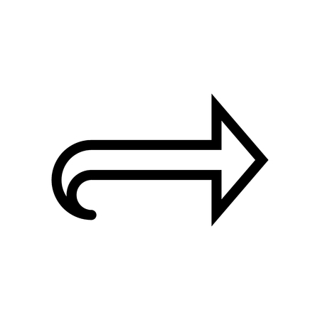 Arrow Pointing Forward Icon Vector.