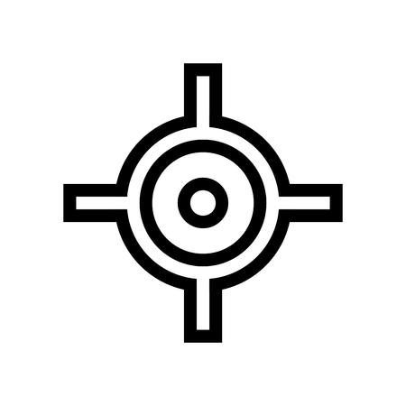 Transform Pivot Point Icon Vector/ Shoot Target Icon