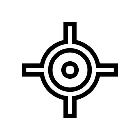 Transform Pivot Point Icon Vector/ Shoot Target Icon