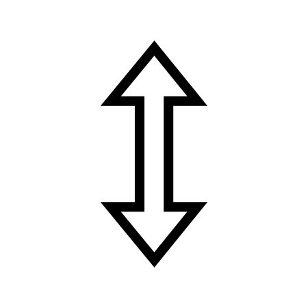 Up & Down Icon. Flip Selected Object Vertically Icon Vector