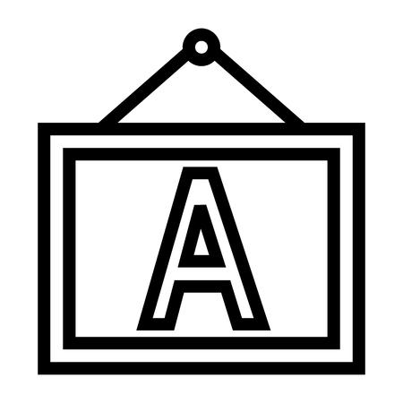 Fontwork, White Board Icon Vector