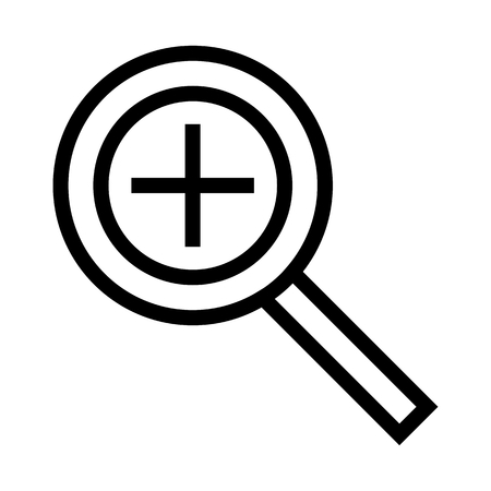 Magnifying Glass Zoom In Icon Vector