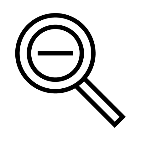 Magnifying Glass Zoom Out Icon Vector Vettoriali