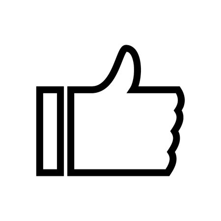 Like Thumbs Up Right Hand Internet Icon Vector