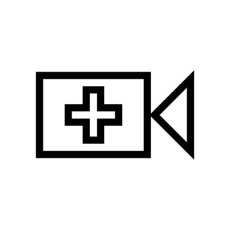Add Video File Icon Vector