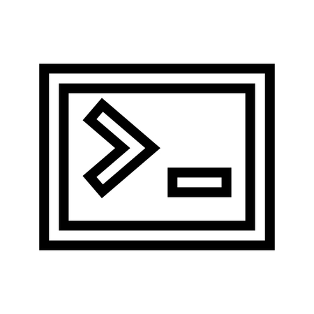 Computer Administrator Terminal Icon Vector 矢量图像